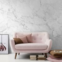White Marble Removable Wallpaper, Stone Texture Wall Mural ...