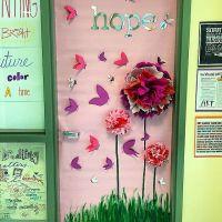 Breast cancer awareness door decorating contest today # ...