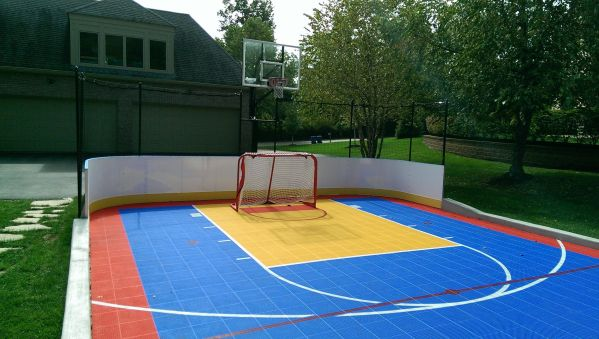 Home Basketball Courts Back Yard