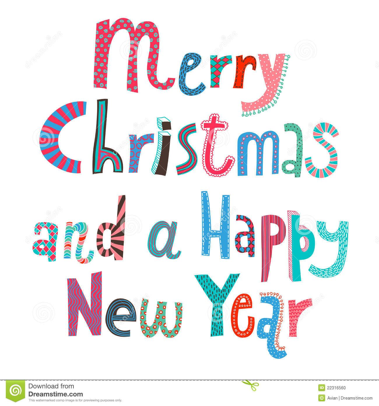 New Year Art Happy Christmas And Have Clip Merry