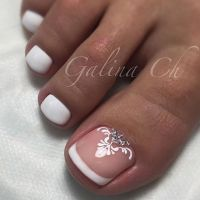 French Toe Nail Art | TOE NAIL ART | Pinterest | French ...