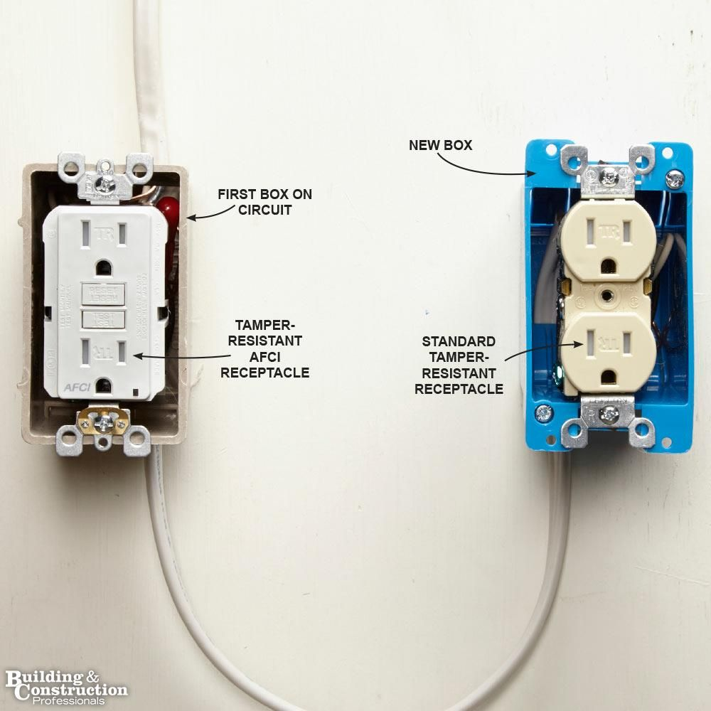 hight resolution of install an afci receptacle at the source house hackselectrical