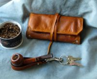 Leather Pipe & Tobacco Pouch Handmade in the U.S.A.. $75 ...