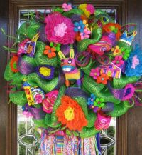 Deco Mesh GREEN FIESTA WREATH | Cinco de Mayo, De mayo and ...