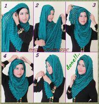 Hijab shawl tutorial | Hijab | Pinterest | Tutorials, Warm ...