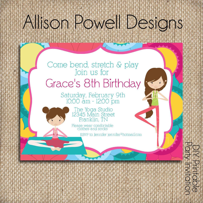 Girls Birthday Party Invitation Pottery