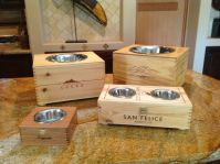 ~Lucky dog!~Wine Crate Dog Feeder | repurpose this ...