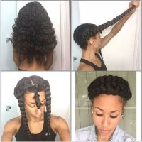 Double Braid Halo Natural Protective Styles for Summer ...