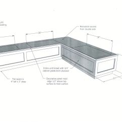 Height Of Kitchen Bench Islands Big Lots Diy Wood Breakfast Nook Dimensions Plans With