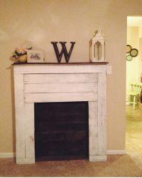 DIY pallet faux fireplace | Craft night ideas | Pinterest ...
