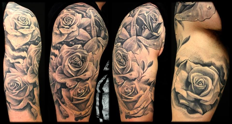 Rose Sleeve  Tattoos  Pinterest  Tattoo Glasgow, Tattoo