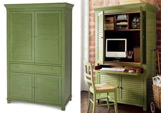 Best 25 Computer armoire ideas on Pinterest  White desk armoire Folding computer desk and