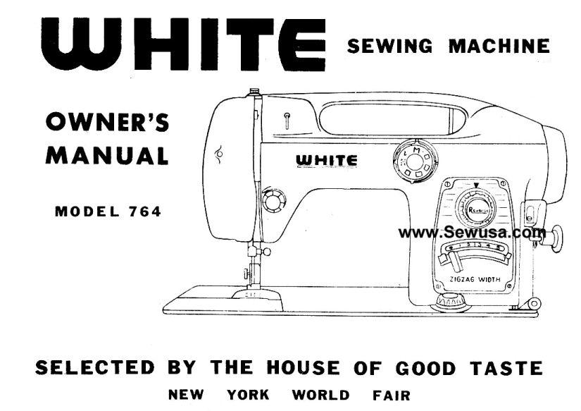 PDF free printable White 764 Sewing Machine Owner's Manual