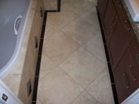 18x18 tile in small bathroom | Backsplash | Pinterest ...