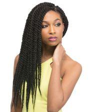 "22"" black braiding hair synthetic"