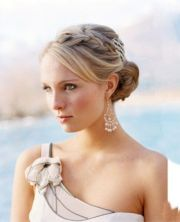 braided updo with side bangs