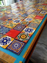 Mexican Tiled Table | AZULEJOS | Pinterest | Mexicans ...