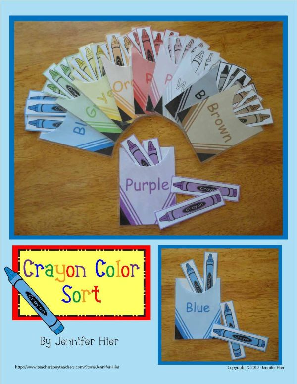 Color Sorting Crayon Match Activity Busy Bags Crayons And Activities