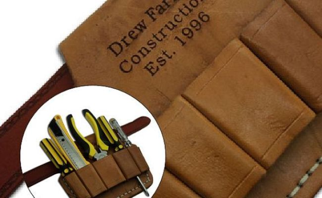 Leather Tool Belt Personalized Monogrammed Engraved Men S