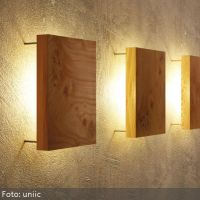 Wonderful way to light up your home: Wooden wall lamp ...