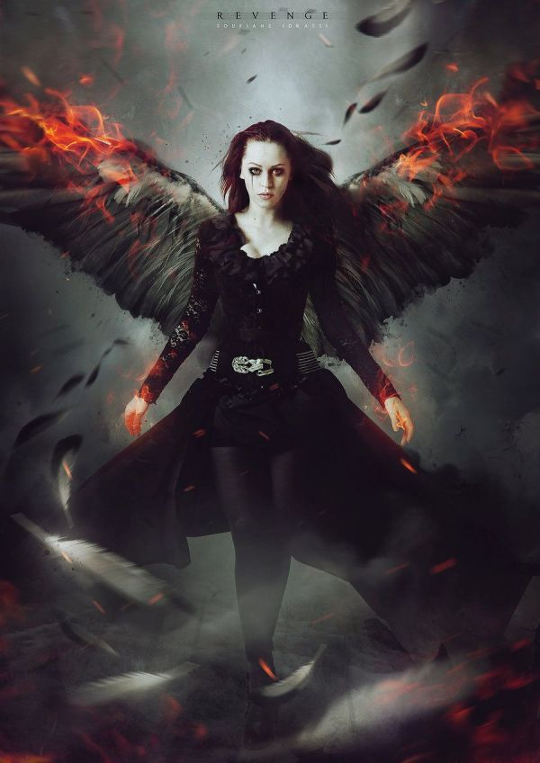 Gothic Dark Fallen Angel Art