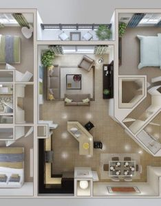 We feature three bedroom home plans in this massive post also includes links to and studio apartment floor working with  small space than some of the other designs rh pinterest
