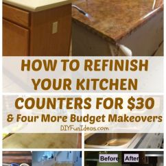 Inexpensive Kitchen Makeovers Pantries For Kitchens How To Refinish Your Counter Tops Only $30 ...