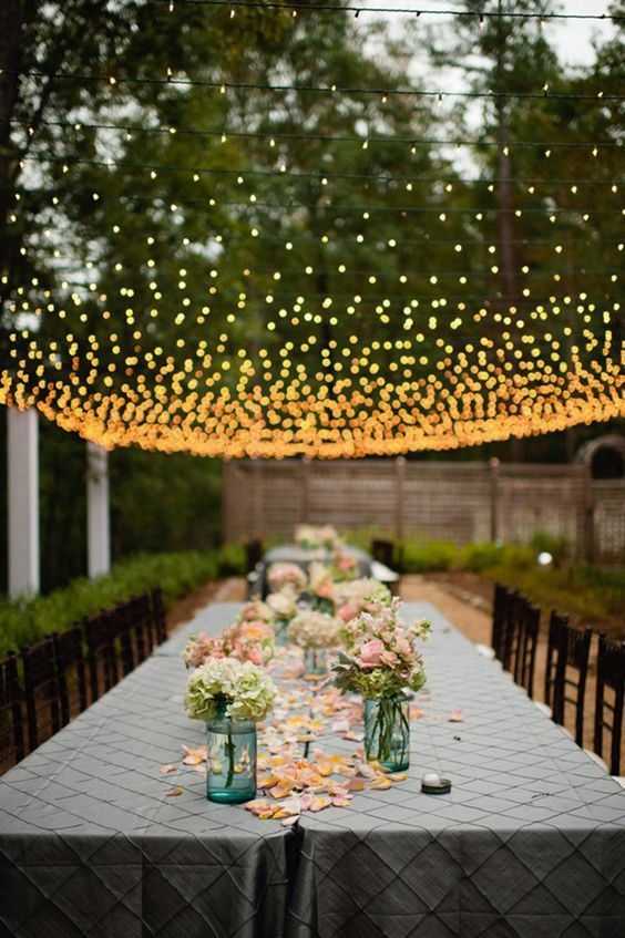 30 New Ideas For Your Rustic Outdoor Wedding Gardens String
