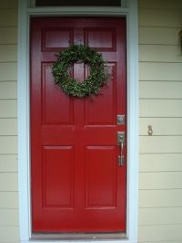 My New Red Door | Benjamin moore, Front doors and Doors