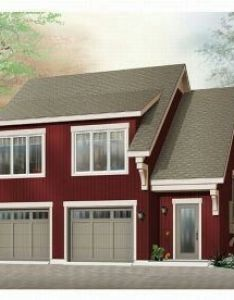 This garage plan has surprising housing as well with  two bedroom apartment the first level includes an oversized car and half bath also pin by best house design on building prefab archcitecture rh pinterest