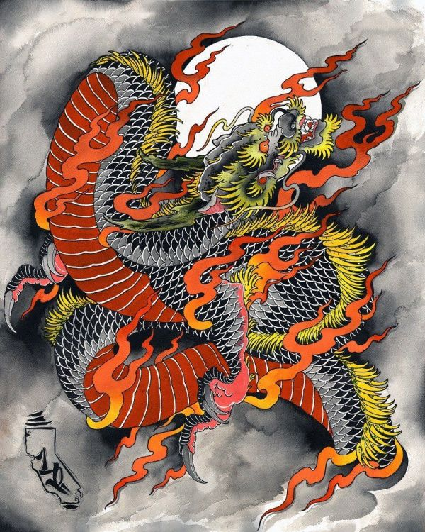 Chinese Dragon Tattoo Art