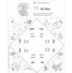 Vowel Digraphs (ai, ay): Fun-Flaps Phonics Manipulative