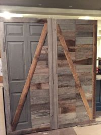 Create a beautiful reclaimed wood barn door from an ugly ...