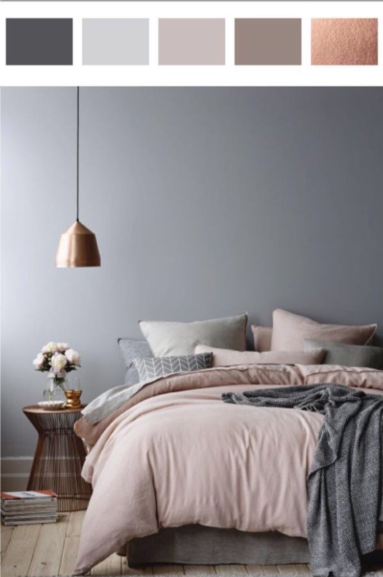 5010 Shades of Grey in the Bedroom  Dusty pink Rose and Gray