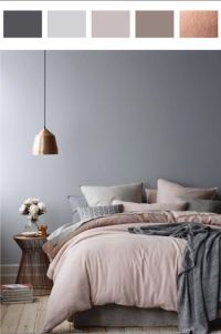 5010 Shades of Grey in the Bedroom | Dusty pink, Rose and Gray