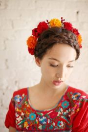 day of dead marigold crown