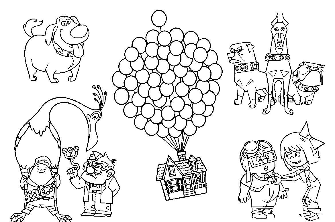 Characters In Up Coloring Pages Explore The U Ard Call C