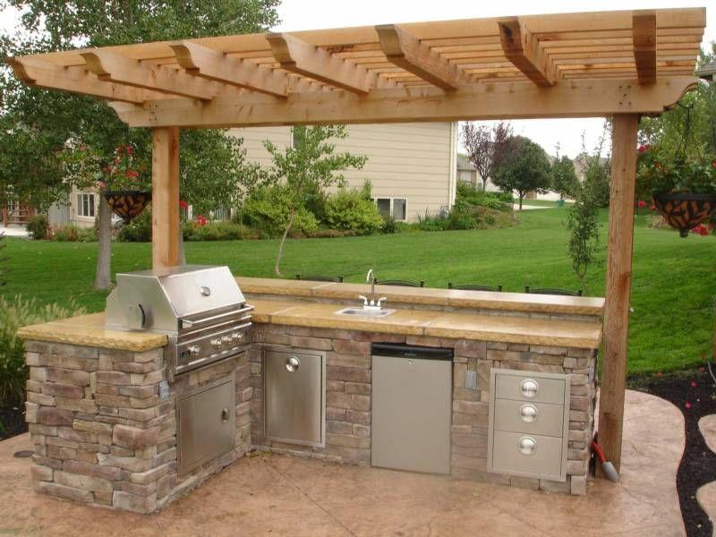 Small Outdoor Kitchen  Patio Ideas  Pinterest  Small