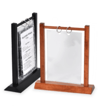 Wooden Double Post Menu Holder to display pictures on ...