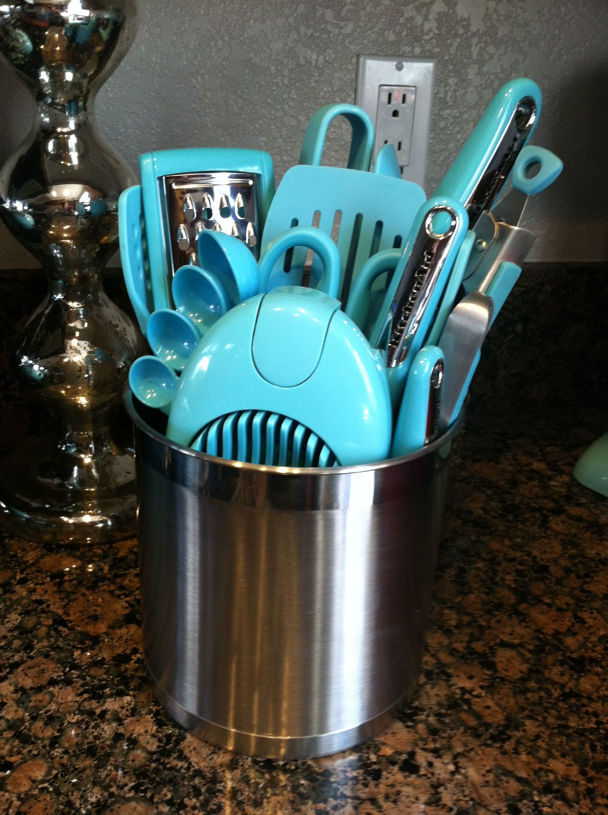 turquoise kitchen appliances 2 seater table utensils my new color obsession