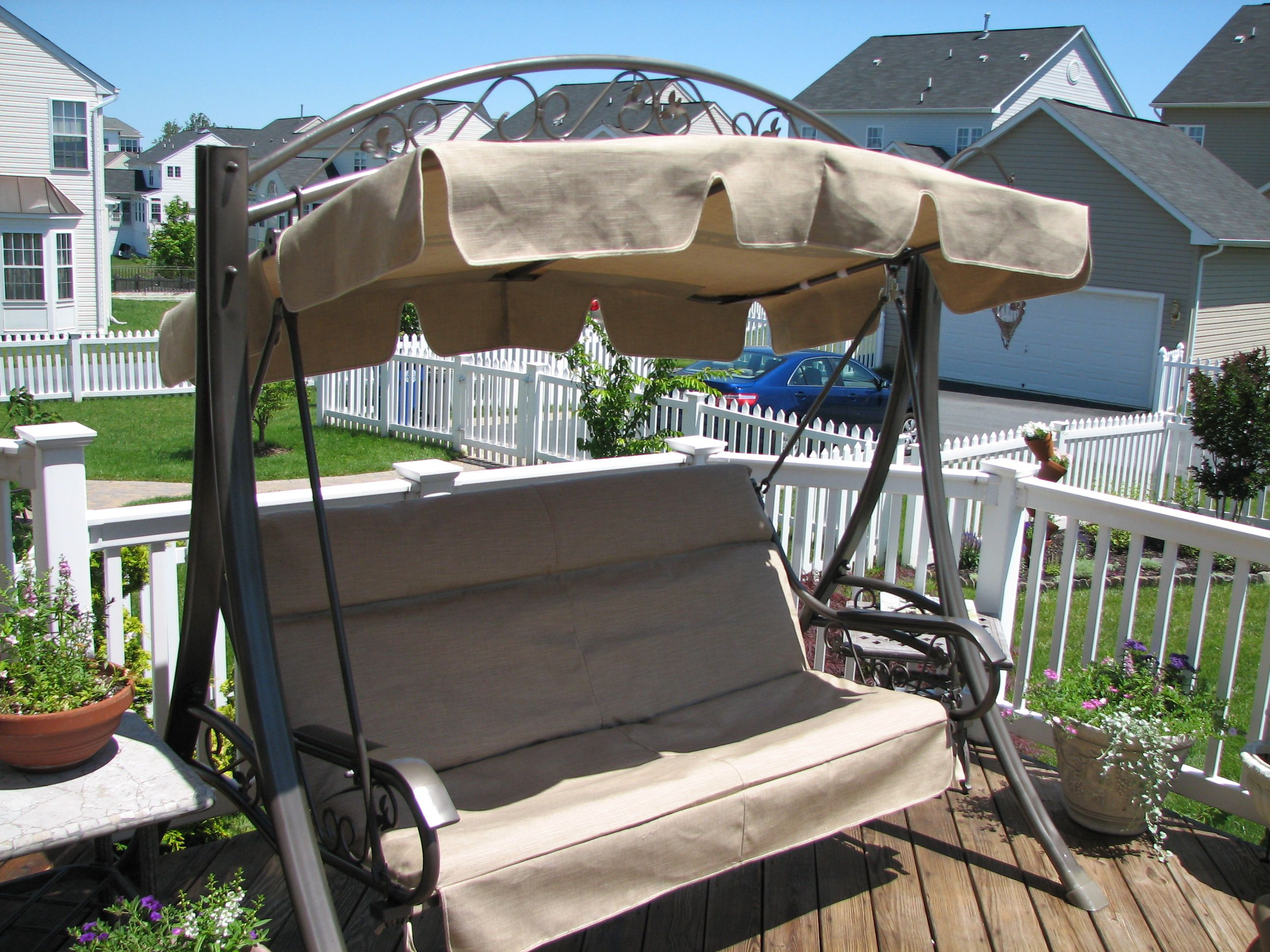 outdoor chair covers costco earl jess design 3 person futon swing