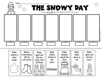 The Snowy Day Sequencing/Retelling Kindergarten & First