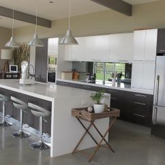 Modern Kitchen Island With Seating Installation Furniture Nice White High Gloss