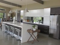 Kitchen : Kitchen Furniture Nice White High Gloss Island ...