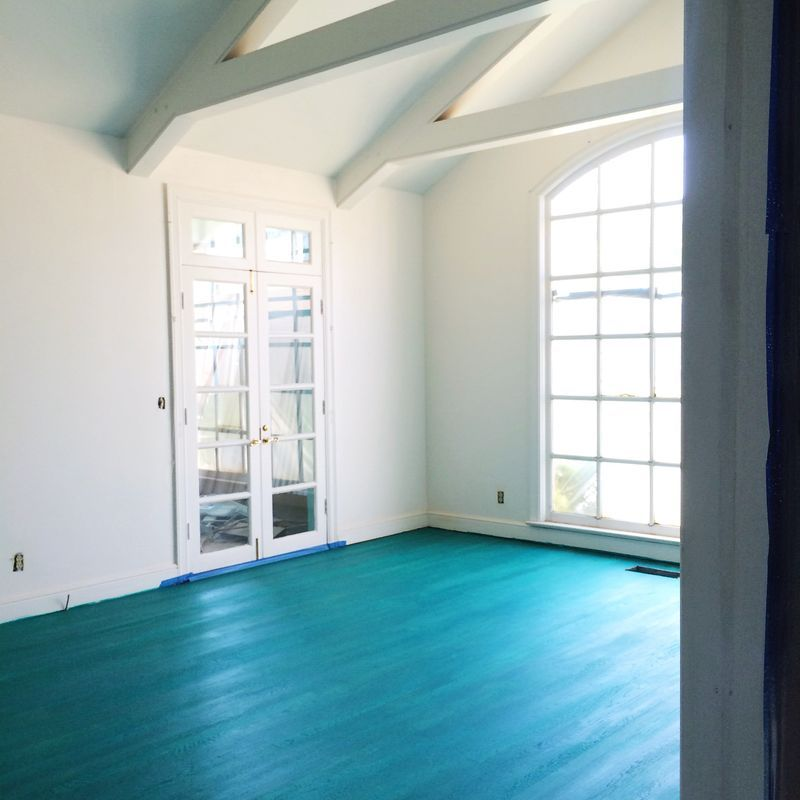 My Color Washed Living Room Floor (A Beautiful Mess