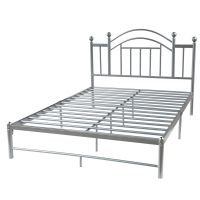 Queen size Metal Platform Bed Frame with Headboard in