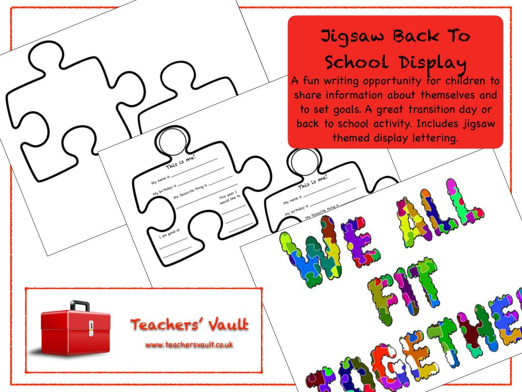 Jigsaw Back To School Display