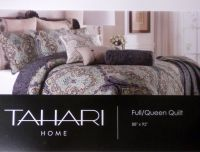 TAHARI RICH MEDALLION 3pc FULL QUEEN QUILT & SHAM SET NEW ...