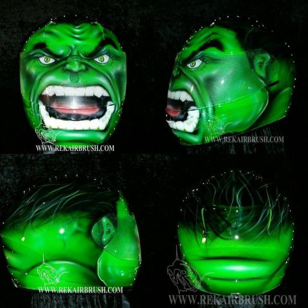 Incredible Hulk Motorcycle Helmet