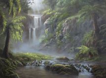Bob Ross Waterfall Painting - Year of Clean Water